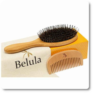 10 Detangling Boar Bristle Hair Brush Set by Belula