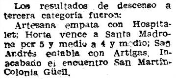 Recorte de Mundo Deportivo del 8 de abril de 1952