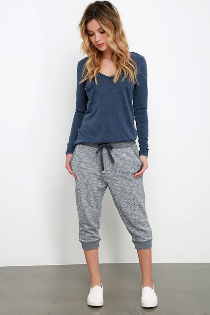 Blue-Marl-Knit-Jogger-Pants