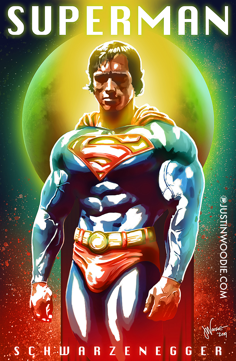 Arnold Schwarzenegger Superman Digital Illustration