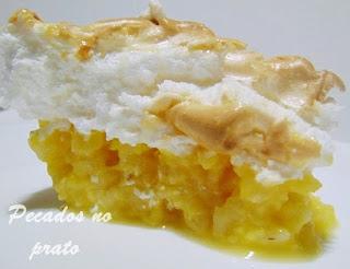 Receita de arroz doce com cobertura de merengue
