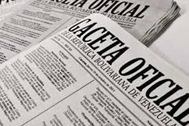 Léase SUMARIO de Gaceta Oficial N° 41.392  del 8 de mayo de 2018