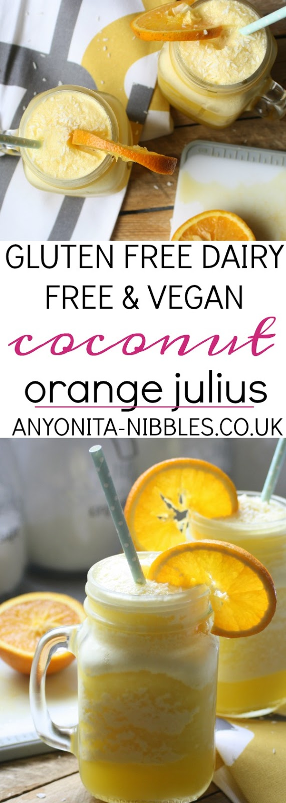 This frothy iced orange and milk drink is the perfect way to cool down in summer and suitable for vegans!