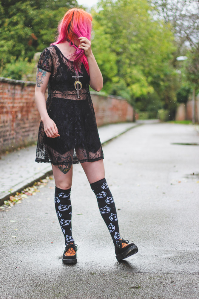 Alternative Style Blogger Foxxtailz in Disturbia