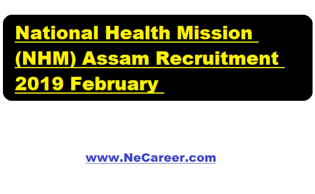 National Health Mission (NHM) Assam Recruitment 2019 February