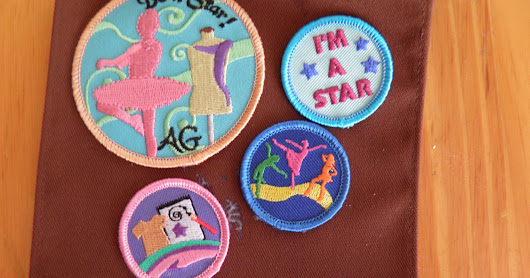Isabelle patch with the Dance, Fashion and sewing and I'm a Star Mini Patches.