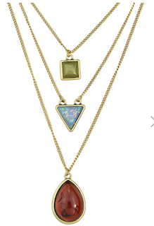 Teardrop Geometric Shape Pendant Multilayer Chain Necklace, ogrlica, lančić, lijepo, dugi lančić, duga ogrlica, na layere, drugačije, stil, jeftino, dresslily, cool, poklon, što pokloniti, nakit, ljubitelji nakita, wonderful, cheap, online shop