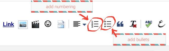 tool add numbering dan add bullets