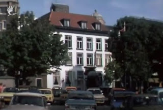 Former site of the House of Lords building circa 1977 - One  can see a cuploa from the Hotel Central building in the background.  (from a video clip on Haagsefilmbank site)