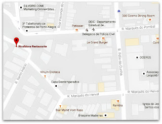 Mapa com a Localização da Escadaria do Ricaldone, Porto Alegre (Mapa)