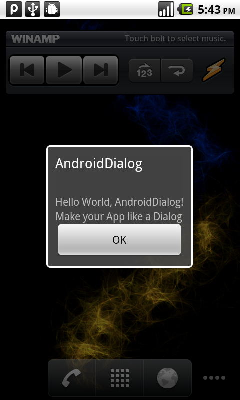 Android Coding: Make you App looked like a Dialog