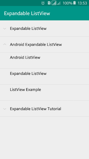 Android Example: Expandable ListView Tutorial with Example