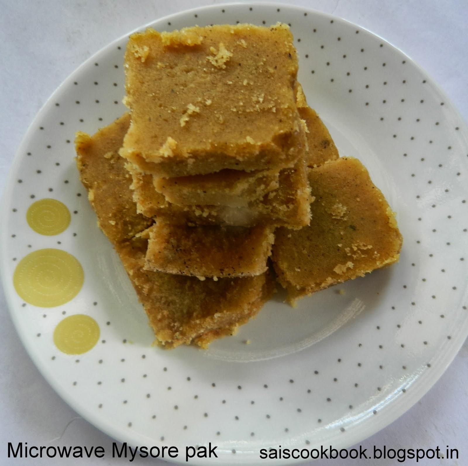 Mysore Pak Recipe In Microwave Oven: Geeths Dawath : Microwave Mysore Pak