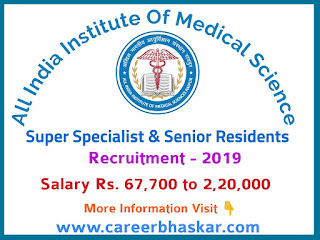 AIIMS Raipur Super Speciality and Senior Resident Recruitment 2019