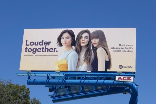Louder Together Spotify billboard