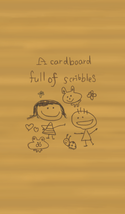A cardboard full of scribbles