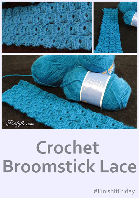Crochet Broomstick Lace #FinishItFriday