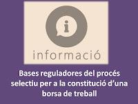 Bases reguladores constitució borsa treball de subaltern