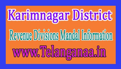 Karimnagar District Revenue Divisions Mandal Information