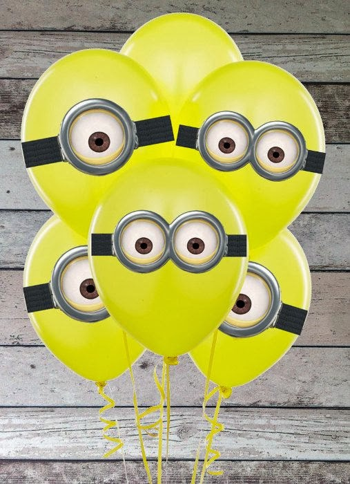 Minion Balloon Birthday party ideas.