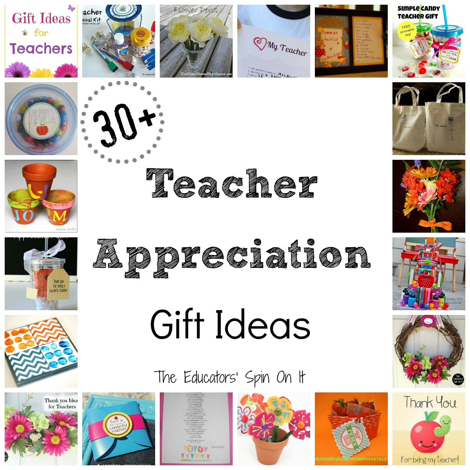 Are you ready with a gift idea to give to your childu0027s teacher? Hereu0027s 30+ Teacher Gift Ideas that are budget friendly and easy to make! Come take a peek!  sc 1 st  The Educatorsu0027 Spin On It : thank you gift ideas for teachers - princetonregatta.org