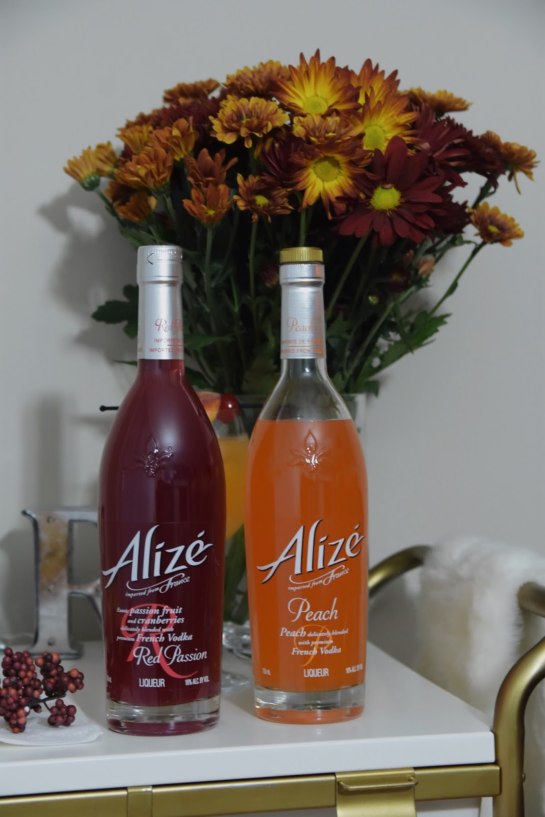 My Favorite Fall Cocktail, Alize, cocktail recipes, peaches, drinks with Alize, fall, peach, passion fruit, french vodka