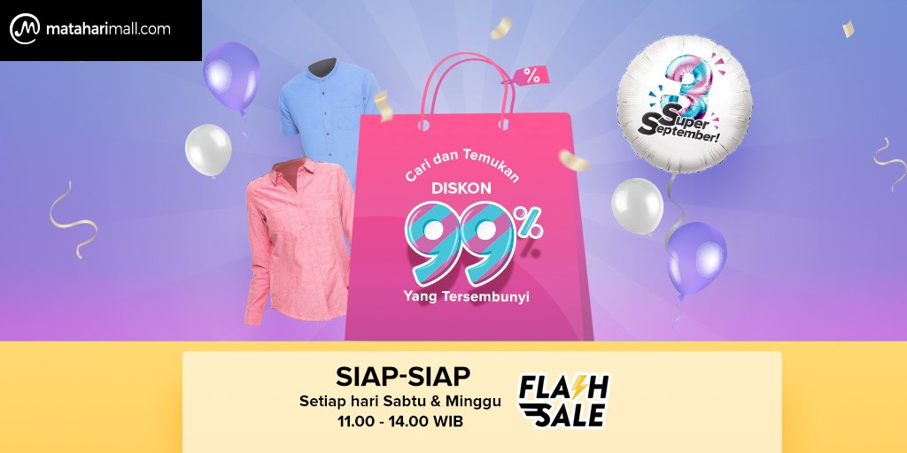 MatahariMall - Pomo Flash Sale Sabtu Minggu Jam 11 - 14 + Diskon 99%