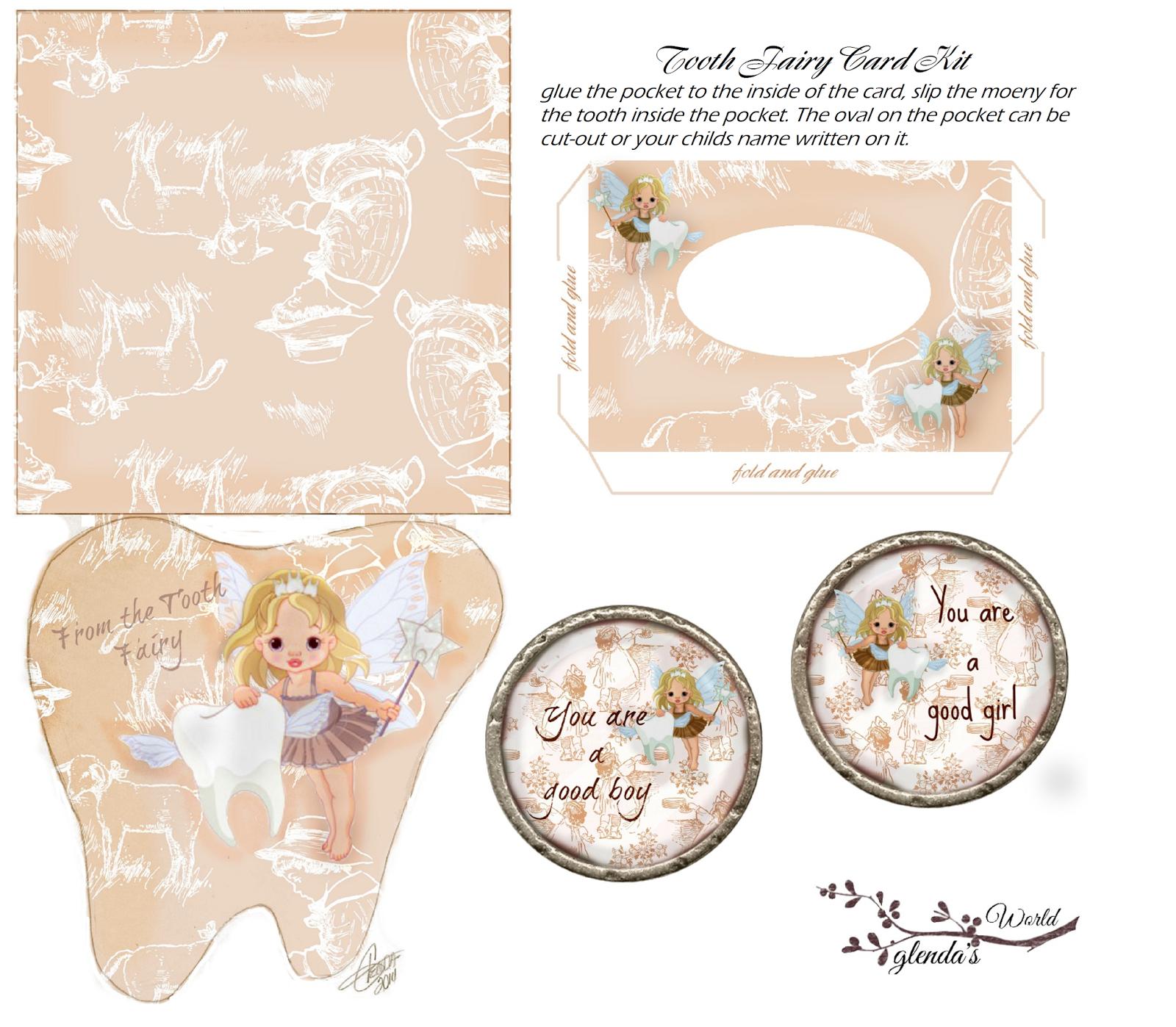 image regarding Tooth Fairy Card Printable named glendas Entire world : Enamel Fairy Card Package