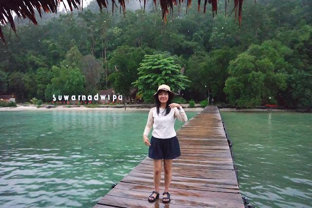 kecantikan pulau suwarnadwipa beach club resort padang