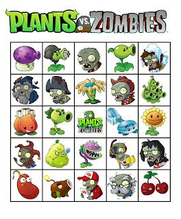 free Plants vs Zombies bingo