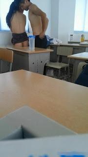 หลุดเพื่อนชายขอถ่ายแฟนเอาในชั้นเรียน