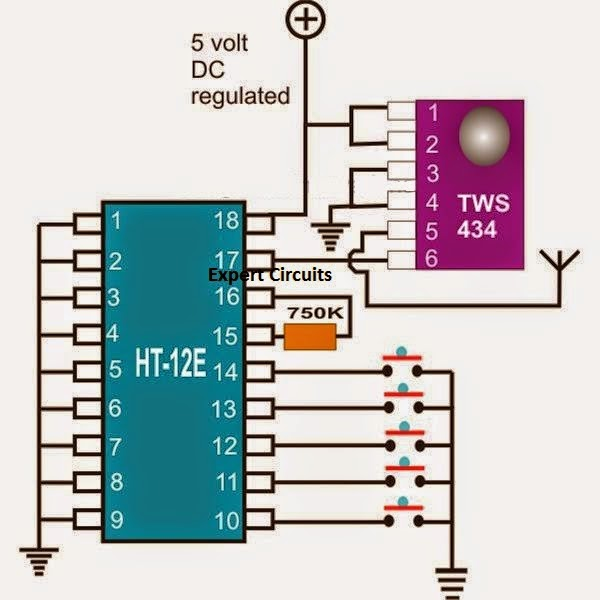 Ic8001 Universal Remote Ic Pin Configuration Schematic And Datasheet