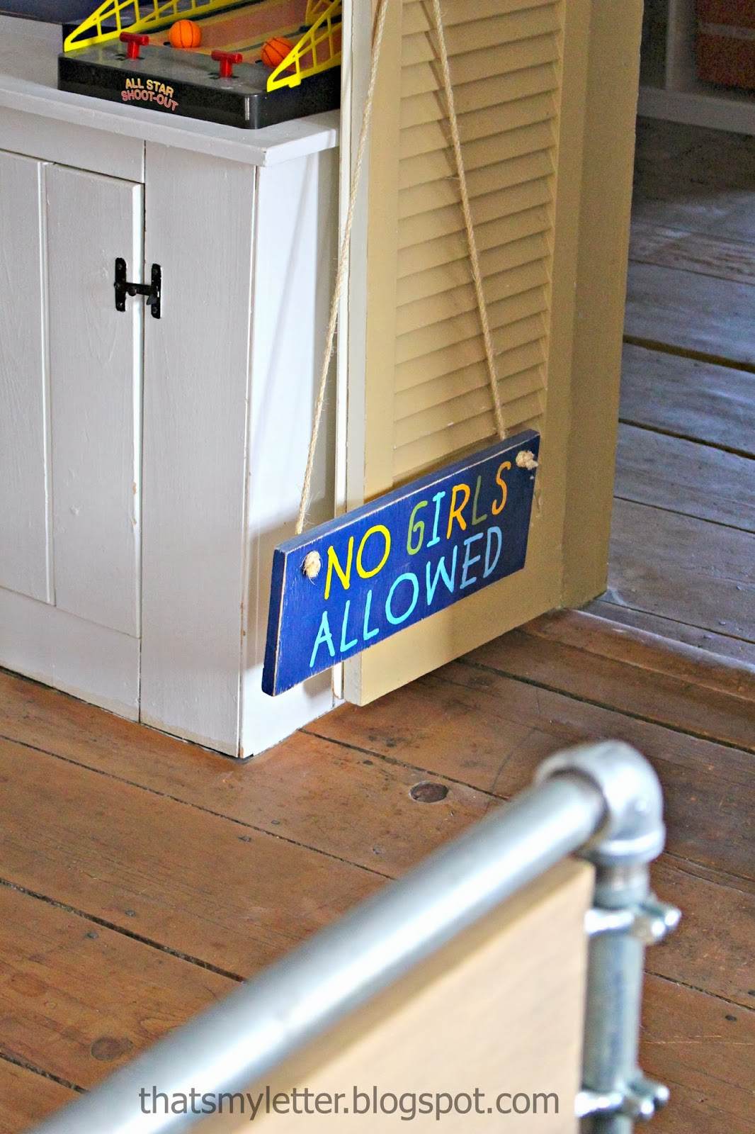 no girls allowed handpainted sign