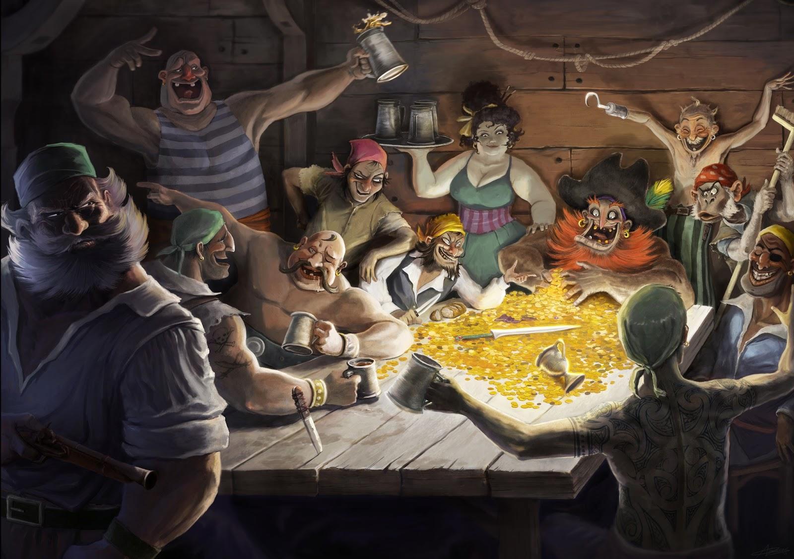 Bildergebnis für pirates drinking