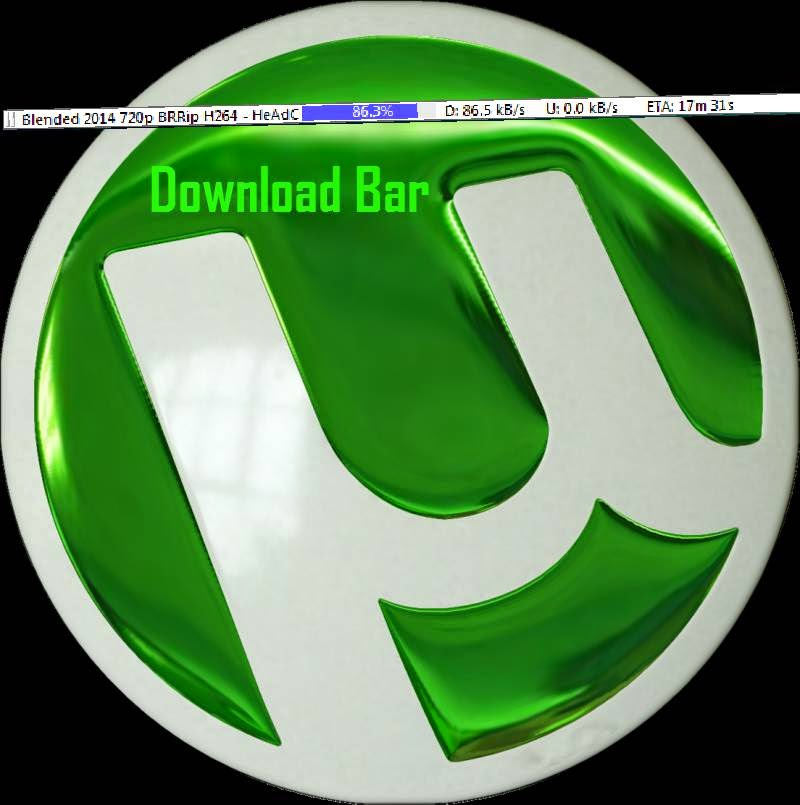 Monitor your Download Torrent Status without opening Utorrent from Download Bar