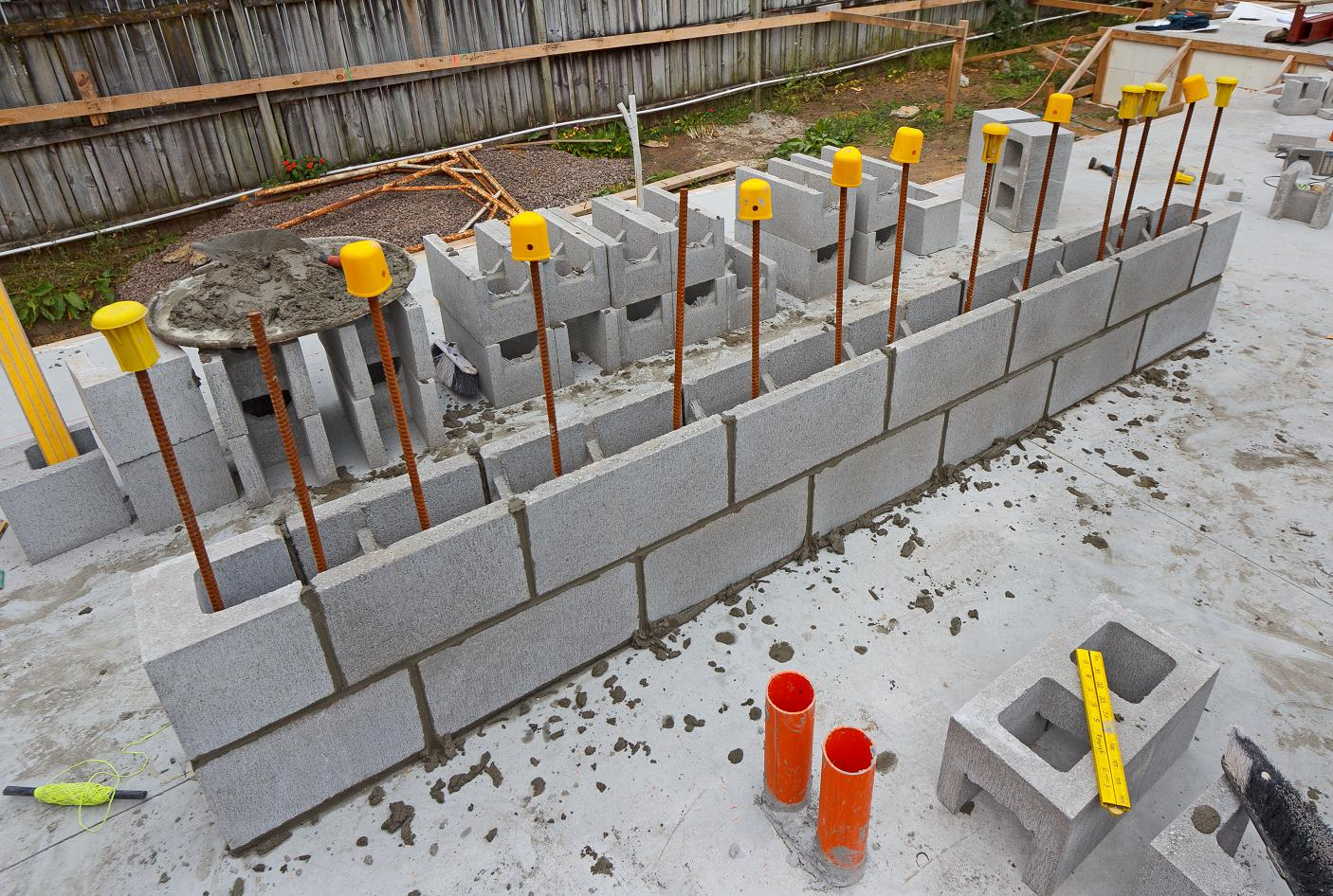 CONCRETE BLOCK WALLS | The New Zealand's First Passive House