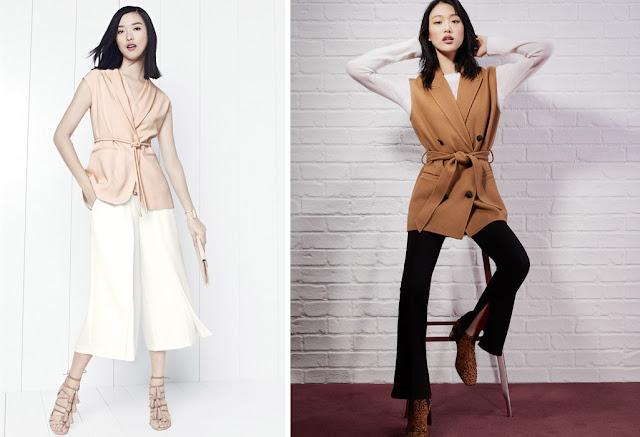 Как носить удлиненный жилет невысокой женщине