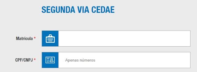 Cedae 2 via  - Acesso ao site Cedae
