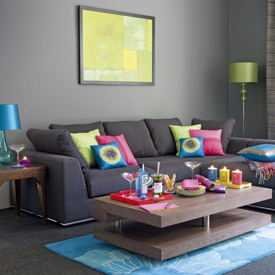 Living Room Color Pop eye for design: decorating your interiors with pink and grey