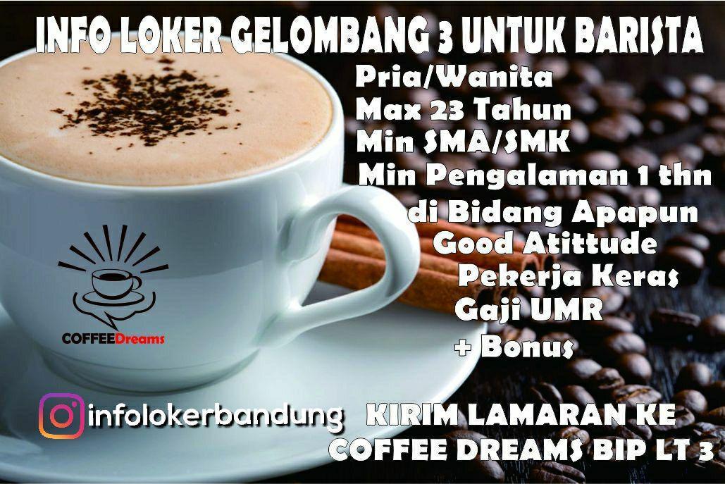 Lowongan Kerja Coffee Dreams Gelombang 3 BIP ( Bandung Indah Plaza ) Desember 2017