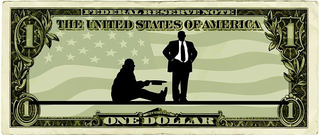 Die Kluft zwischen Arm und Reich in den USA wird immer größer ...