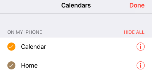 iPhone 7 invitees option missing from calendar