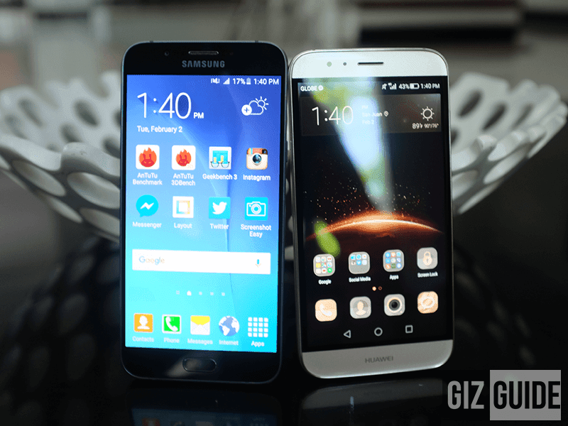 Samsung Galaxy A8 vs Huawei G8 comparison