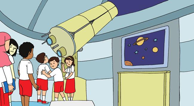 Mengunjungi Planetarium