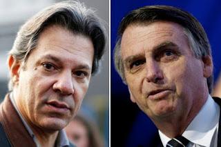 Ibope mostra Bolsonaro com 27% e Haddad com 21%