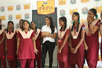 Actress Priya Anand with the Students of Shiksha Movement Event .COM 0015.jpg