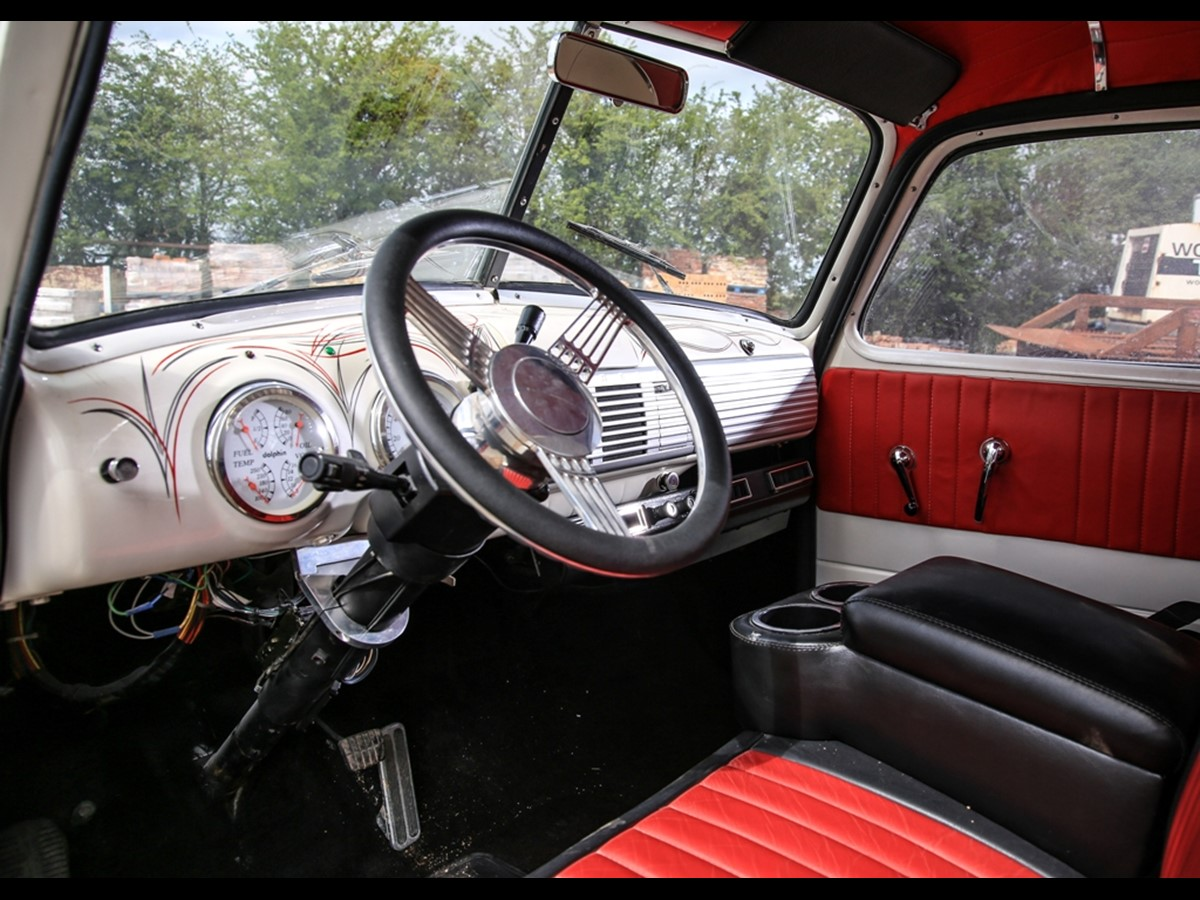 Coming To Auction From Classic Chatter 1951 Chevrolet 3100 Stepside Chevy Steering Wheel Hood Side Emblems Now Only Read 3600 3800 4400 Or 6400 In Large Print Door Post Id Plate Was Blue With Silver Letters Previous Models Used