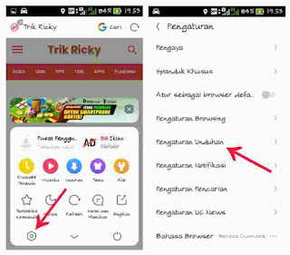 Setting pengaturan unduhan uc browser 1