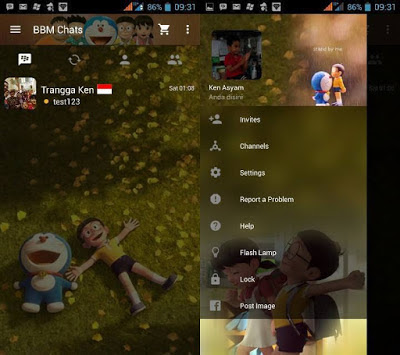 BBM MOD Doraemon 3D V3.0.0.18 Apk Terbaru