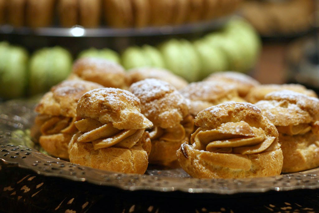 A close up shot of Duchess Bake Shop's mini Paris Brest.